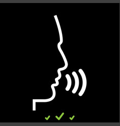 head speaking man it is white icon vector image vector image