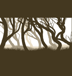 horizontal of pinewood forest vector image
