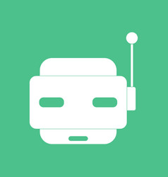 Icon toy robot face vector