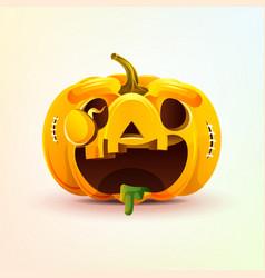 Jack-o-lantern facial expression autumn pumpkin vector