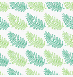 light and dark green fern frond silhouettes vector image