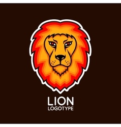 logo template with bright lion head vector image