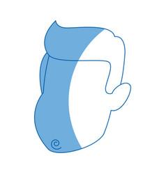 man cartoon face adult caricature character vector image
