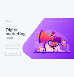 Marketing team landing page template vector