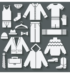 Menswear icons set vector image