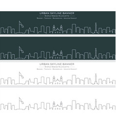 mexico single line skyline banner vector image