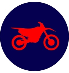 Motocross dirt-bike sign vector