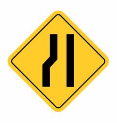 Narrow road sign vector