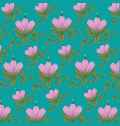 natural flowers with leaves design background vector image