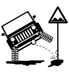 offroad car pissing 3 vector image