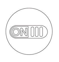 on switch button icon vector image