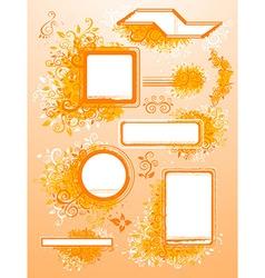 Orange Banner Set vector