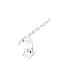 Outline barrier gate vector