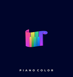 Piano scale template vector