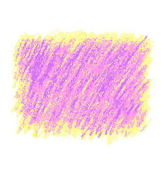 Pink and yellow crayon scribble texture stain vector