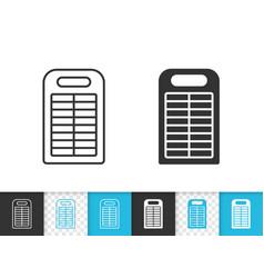 power bank simple black line icon vector image
