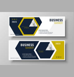 professional business banner presentation vector image