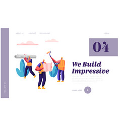 Professional man builder in process construction vector