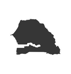 Senegal map outline vector