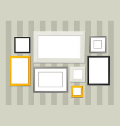 set of various frames for pictures and photos on vector image