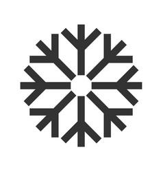 snowflake christmas symbol black flat icon vector image