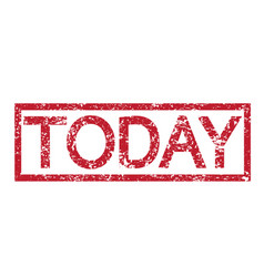 stamp text today vector image