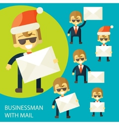 Successful businessman and a letter vector