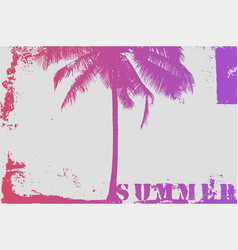 summer typographic grunge vintage poster design vector image