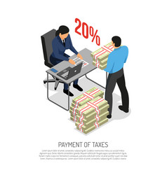 Tax inspector isometric poster vector