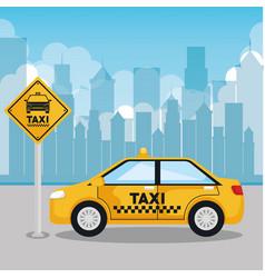 taxi service app smart transport travel vector image