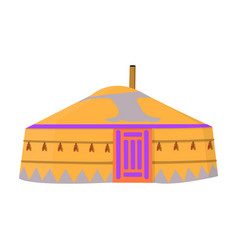 tent in the mongolian patternsmongolian tent vector image