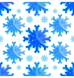 The geometric snowflakes on a white background vector image