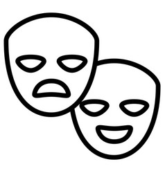 theatrical masks isolated icon vector image