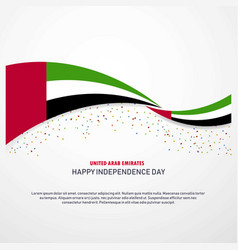 Uae happy independence day background vector
