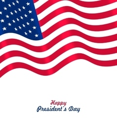 Flag USA Waving Wind for Happy Presidents Day vector image vector image