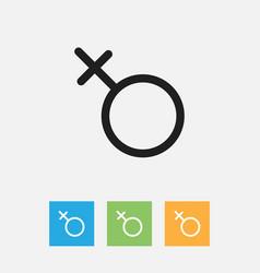 Of business symbol on men sign vector