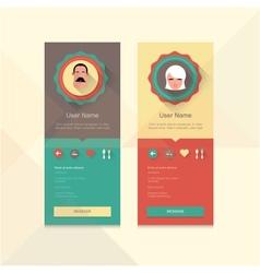 Profile badge vector image vector image
