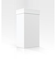 White vertical rectangular box in perspective vector