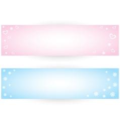 Winter banner vector image