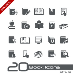 Book Icons Basics Series vector image vector image