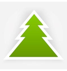 Green Paper Christmas Tree Applique vector image vector image