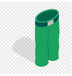 green ski trousers isometric icon vector image vector image