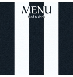 menu with a black and white stripe vector image vector image