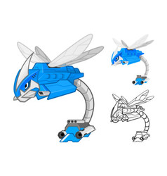 Robot Dragonfly vector image