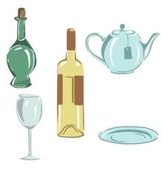 set kitchen utensils vector image