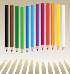 Wavy pencils vector image vector image