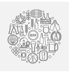 Beer round logo vector image