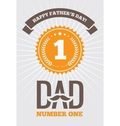 Dad number one 1 vector image vector image