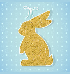 Easter paper decoration in the form of bunny vector