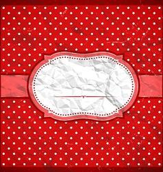 Vintage crumpled polka dot frame vector image vector image